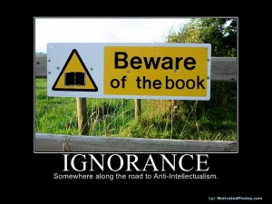 Replace the ignorance with knowledge